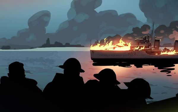 WoWS ダイナモ ダンケルク撤退戦 駆逐艦 炎上