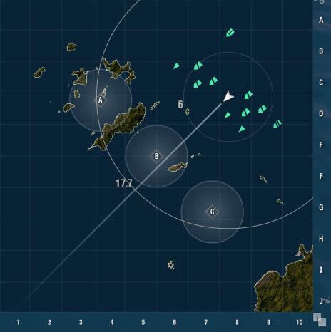WoWS マップ 沖縄