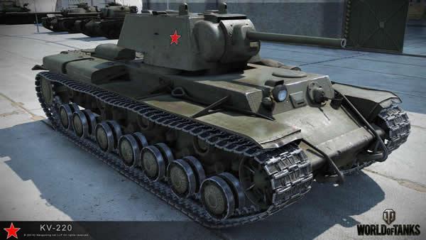 WoT KV-220 ソ連 Tier5 重戦車 プレミアム車両