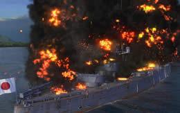 WoWS 妙義 Tier4 日本 戦艦 炎上 サムネイル