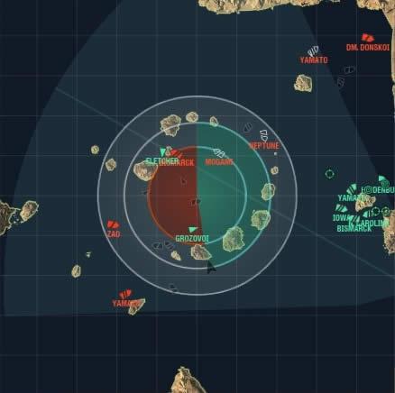 WoWS マップ イカ釣り漁船 船団