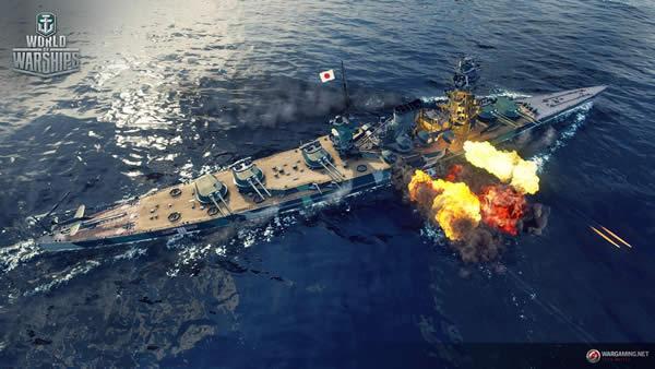 WoWS 紀伊 日本 Tier8 プレミアム艦 戦艦 砲撃