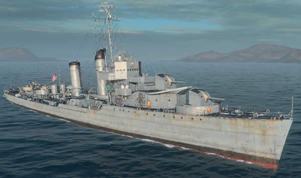 WoWS マハン アメリカ Tier7 駆逐艦