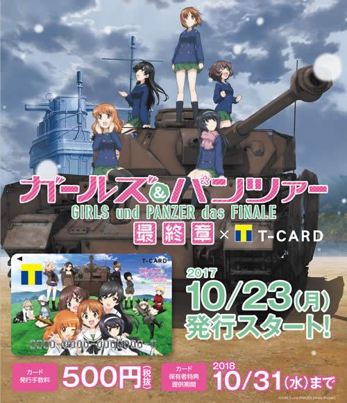ガールズ&パンツァー 最終章 キャンペーン Tポイントカード