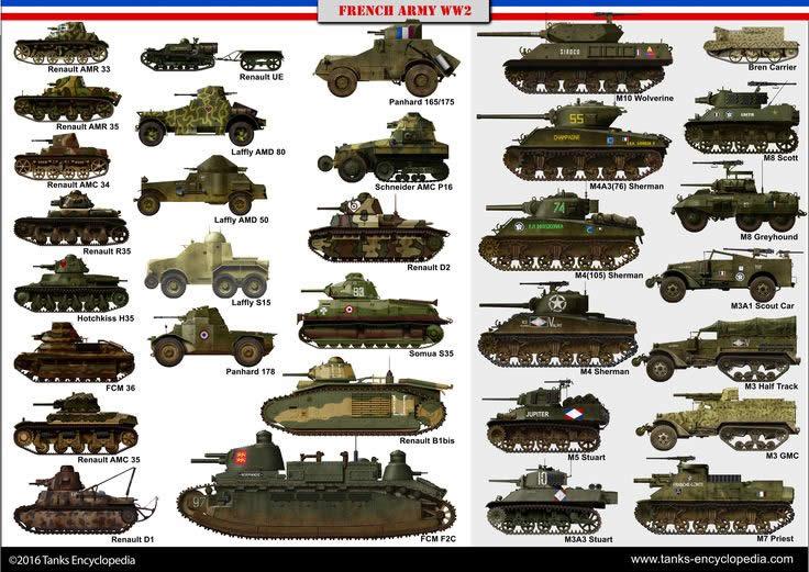 フランス 第二次世界大戦 戦車 装甲車 一覧 02