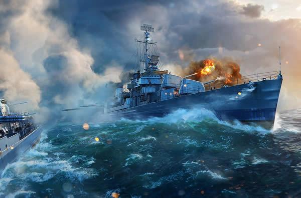 WoWS キッド アメリカ Tier8 プレミアム駆逐艦