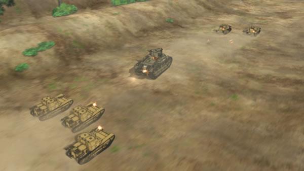 ガールズ&パンツァー 八九式中戦車 CV33 に撃たれまくる  いてててててててて