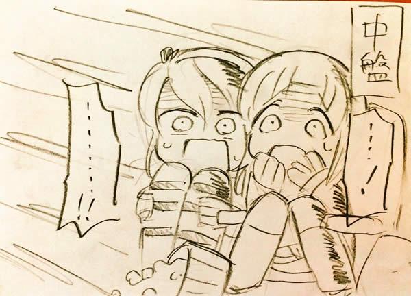 ガールズ&パンツァー シン・ゴジラを映画館で観る西住みほと島田愛里寿 漫画 03