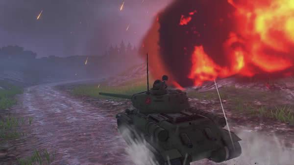 ガールズ&パンツァー ドリームタンクマッチ T-34/85 カチューシャ 爆炎