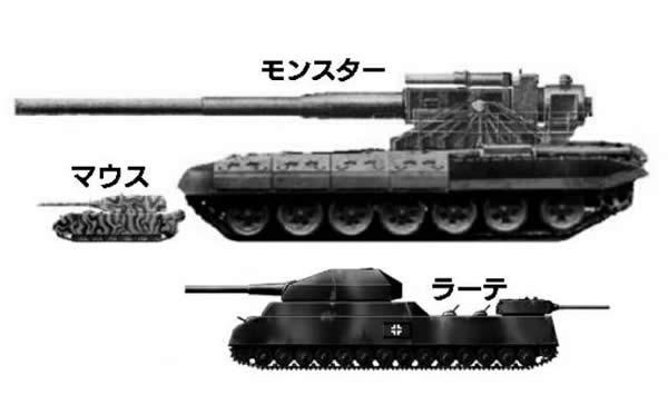 超大型戦車 マウス ラーテ モンスター