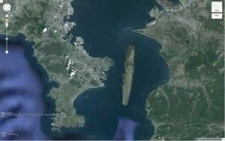 ガールズ&パンツァー 地図上の学園艦大きさ比較 03