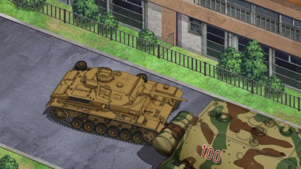 ガールズ&パンツァー 3号戦車 マウス アヒャ子 調子に乗る