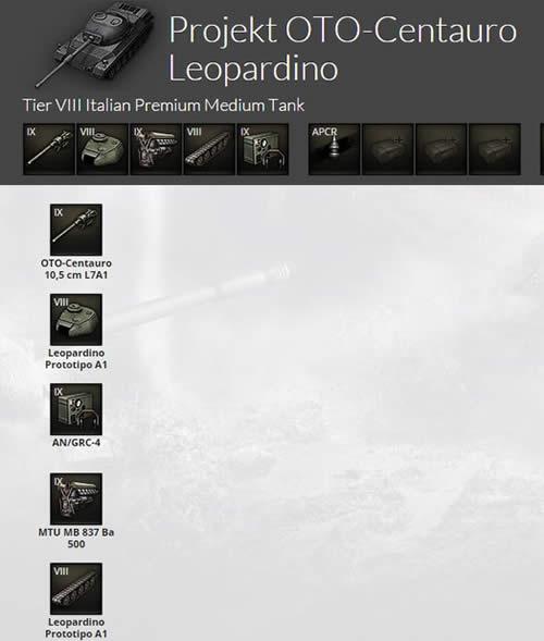 WoT イタリアツリー Projekt OTO_Centauro Leopardino