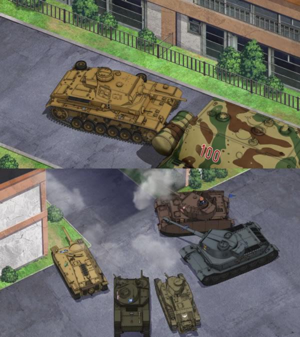 ガールズ&パンツァー 3号戦車 どの車輌が撃破した?