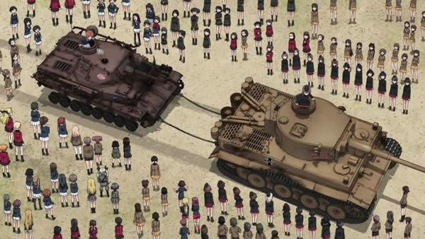 ガールズ&パンツァー 劇場版 タイガーⅠ 4号戦車 牽引