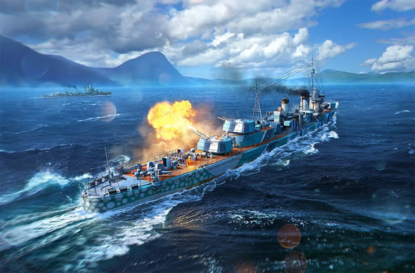 WoWS 朝潮 Tier8 日本プレミアム駆逐艦