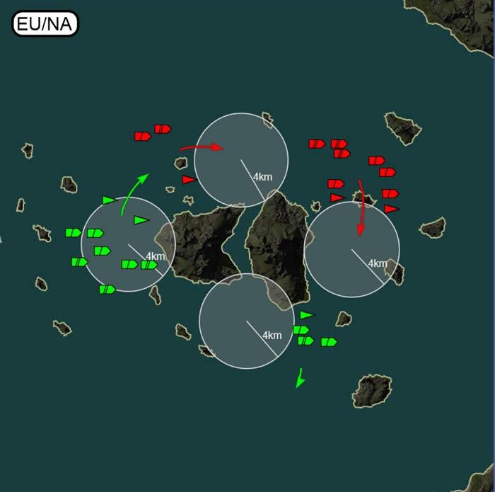 WoWS マップ EU NAの戦術 戦略 戦い方