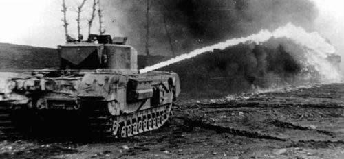 チャーチル クロコダイル 火炎放射戦車