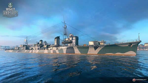 WoWS 朝潮 Tier8 プレミアム駆逐艦