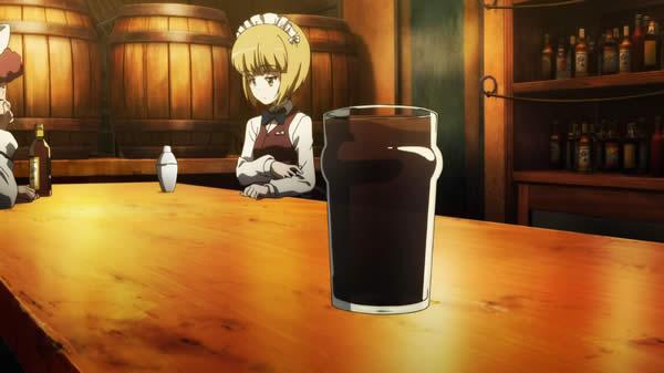 ガールズ&パンツァー 最終章 カトラス シュッ カウンターで飲み物を滑らせてる