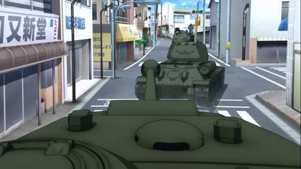 ガールズ&パンツァー T-34/85 カチューシャ 信号機の並びがおかしい