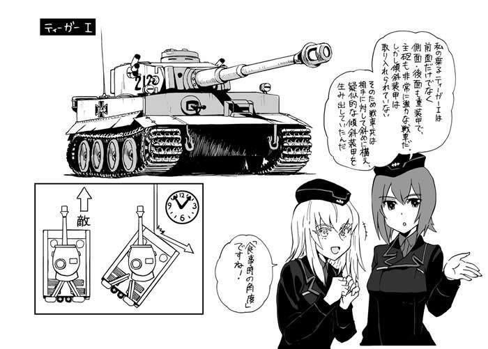 ガールズ&パンツァー 萌えよ!戦車道学校 西住みほ 逸見エリカ ティーガーⅠ
