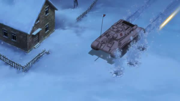 ガールズ&パンツァー T-34/57に機銃を射つ