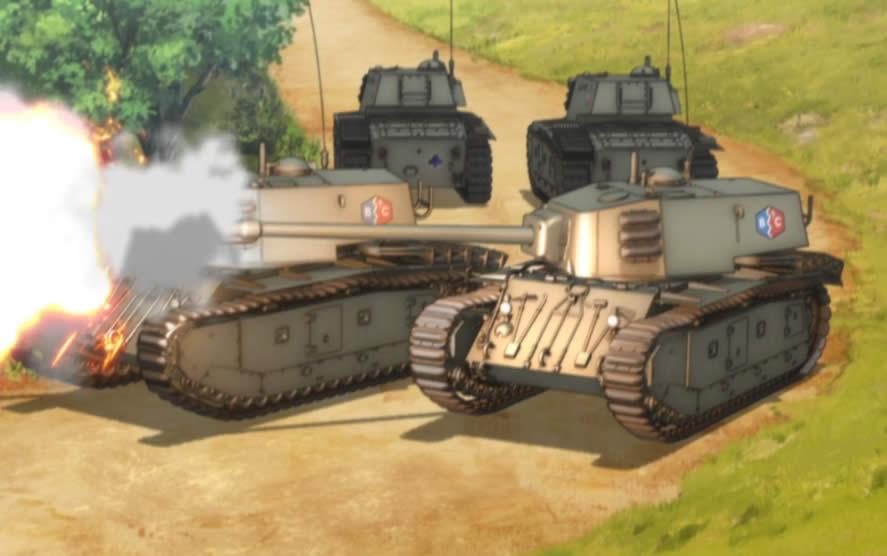 ガールズ&パンツァー ARL-44 BC自由学園 砲撃
