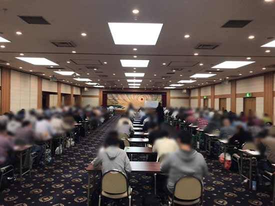 ガールズ&パンツァー戦車道検定試験会場 受験中の様子