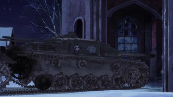 ガールズ&パンツァー  3号突撃砲 カバさんチーム 履帯損傷