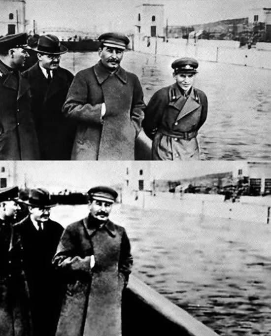 スターリン 写真 修正
