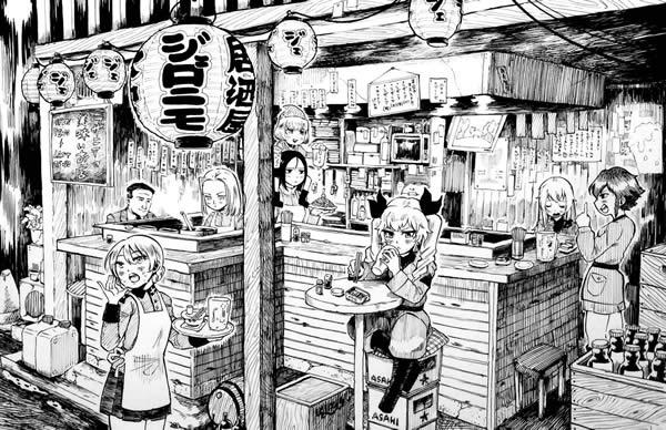 ガールズ&パンツァー 居酒屋ジェロニモ 井之頭五郎 ダージリン プラウダ高校 アンツィオ高校