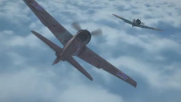 荒野のコトブキ飛行隊 キリエと蛇  隼 零式艦上戦闘機32型