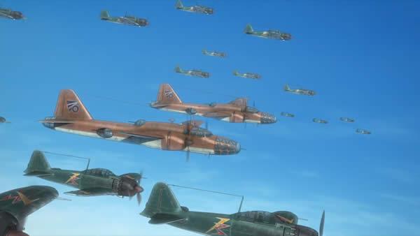 荒野のコトブキ飛行隊 四式重爆撃機 零戦五二型