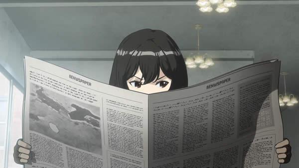 荒野のコトブキ飛行隊 キリエ 新聞を読む