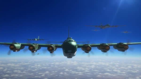 荒野のコトブキ飛行隊 富嶽 編隊