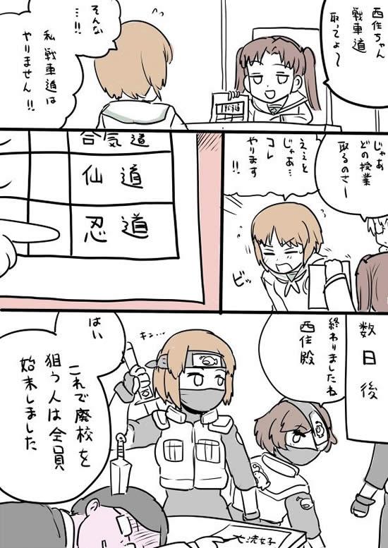 ガールズ&パンツァー 忍道 ナルト