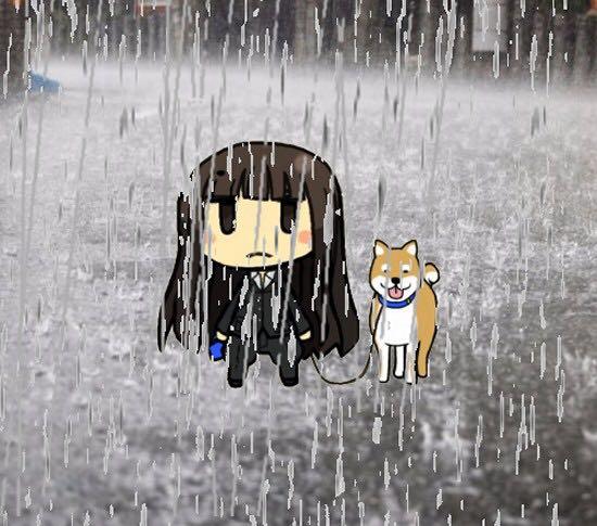 ガールズ&パンツァー 西住しほ 西住家の犬 雨の日