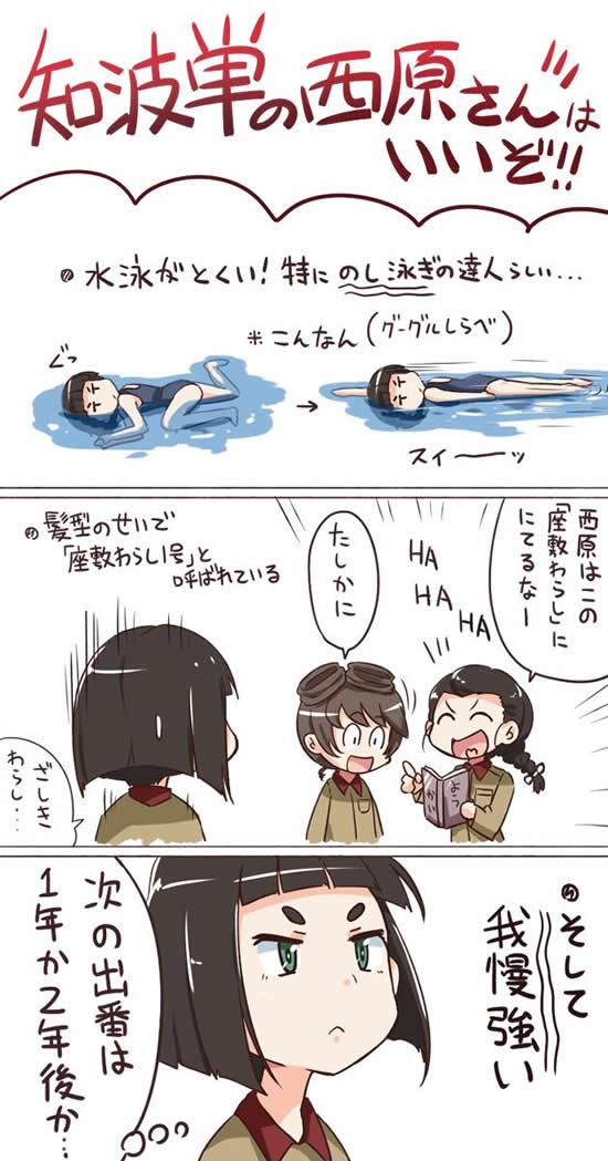 ガールズ&パンツァー 知波単学園 西原さん 漫画