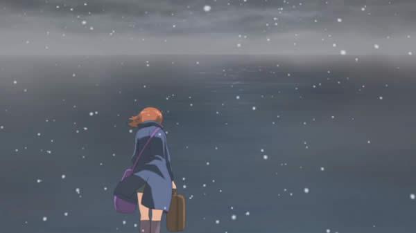 ガールズ&パンツァー 西住みほ 海 冬 雪