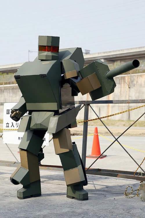 変形戦車ロボ? ダンボール