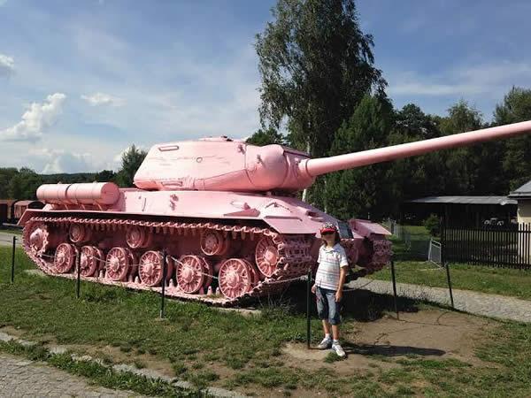 ピンクのT34-85