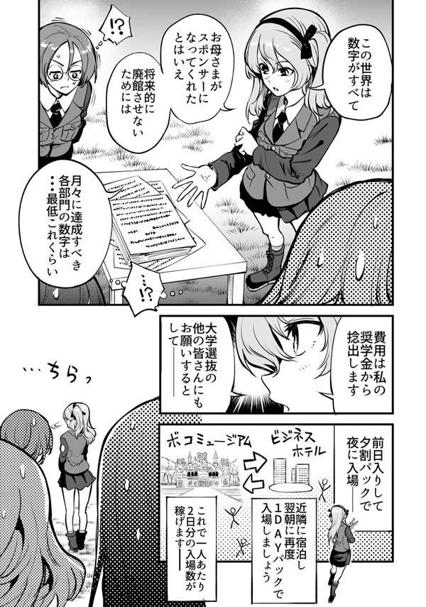 ガールズ&パンツァー 島田愛里寿 ボコミュージアム 経営 漫画03