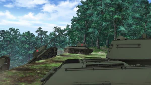 ガールズ&パンツァー 坂を駆け上がるプラウダ高校戦車 T-34