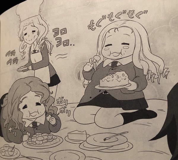 ガールズ&パンツァー マリー 砂部 おデブ ケーキ