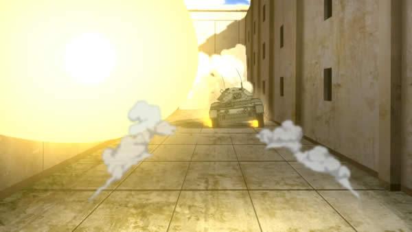ガールズ&パンツァー T-28砲撃の衝撃はで吹き飛ばされるクルセイダー