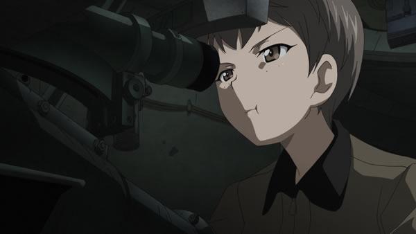 ガールズ&パンツァー ナオミ ガムを噛む T-28重戦車を狙撃するところ