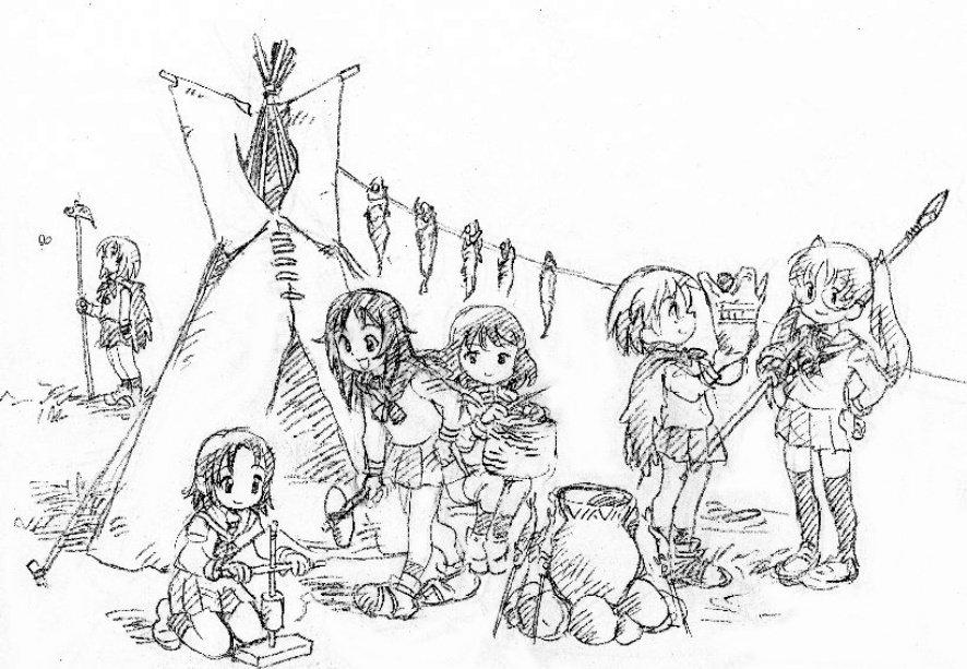 ガールズ&パンツァー ウサギさんチーム キャンプ