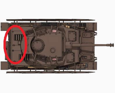 ガールズ&パンツァー 4号戦車 あんこうチーム 俯瞰図