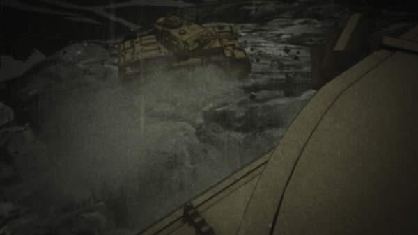 ガールズ&パンツァー 3号戦車 水没